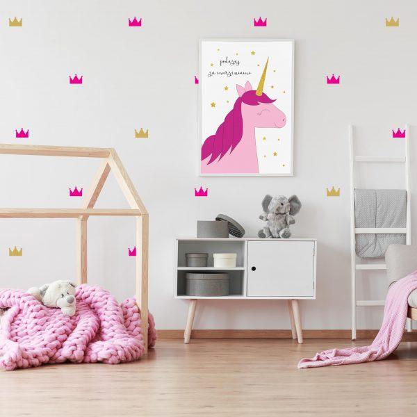 naklejki na ścianę korony