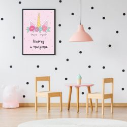mock up wall in child room interior. Interior scandinavian style