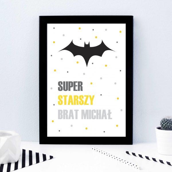 plakat z superbohaterem