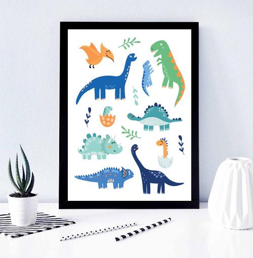 plakat dinozaury